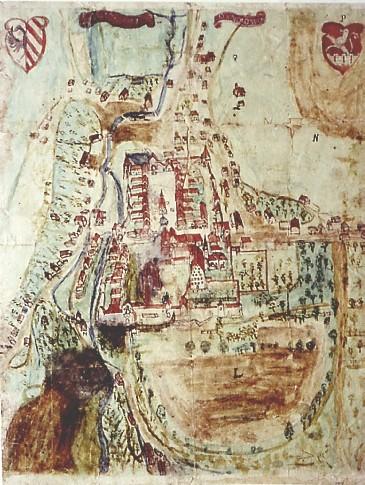 Stadtplan Gräfenberg 1639