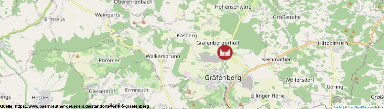 Karte Standort Steinbruch Bärnreuther und Deuerlein